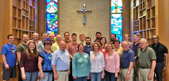 Here are some of the friendly pastors of North Central Iowa Presbytery, seen here on a much-needed retreat!